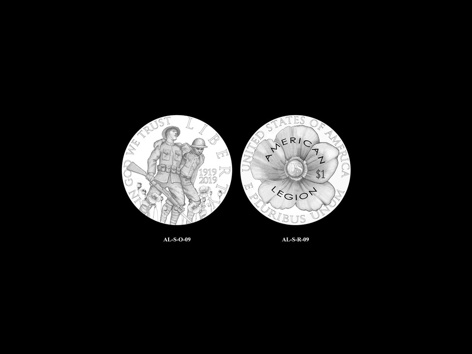 AL-Silver Pair 07 -- 2019 American Legion 100th Anniversary Commemorative Coin Program - Silver Pairings