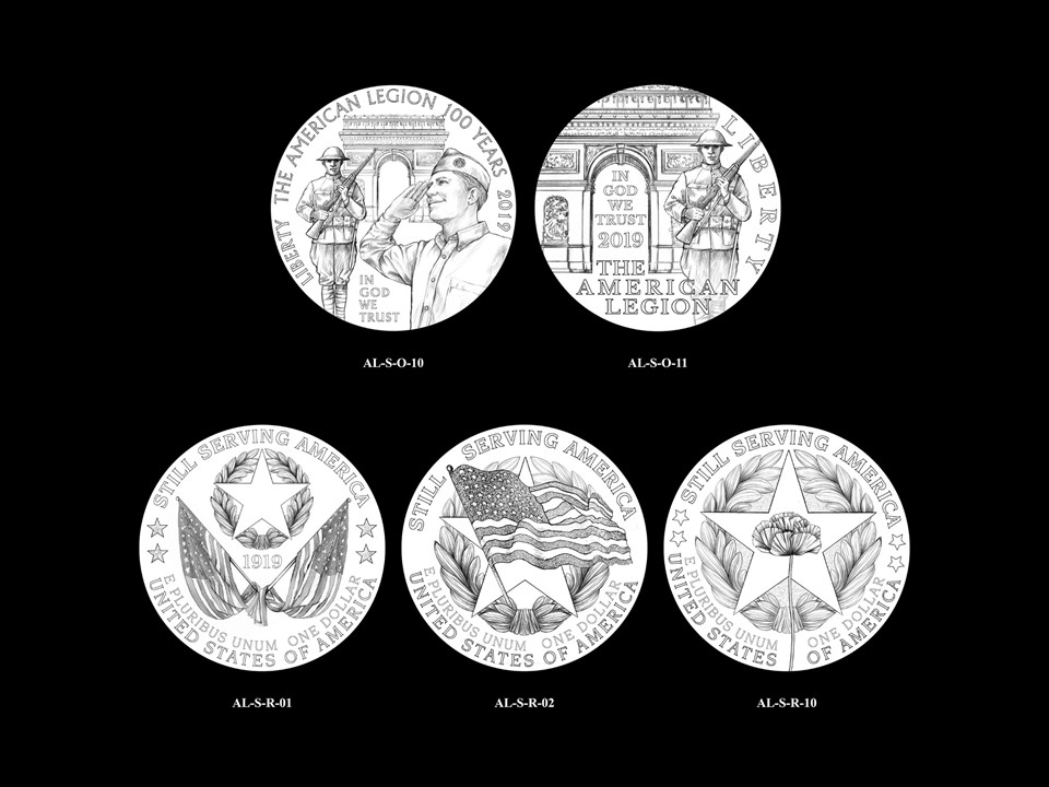 AL-Silver Pair 08 -- 2019 American Legion 100th Anniversary Commemorative Coin Program - Silver Pairings