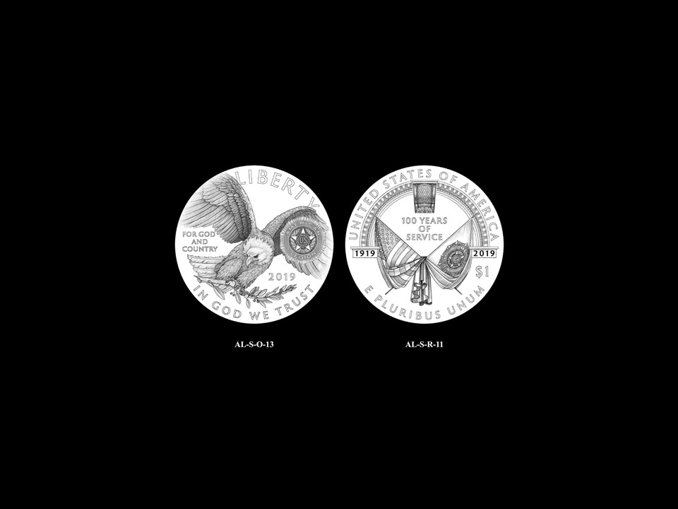 AL-Silver Pair 09 -- 2019 American Legion 100th Anniversary Commemorative Coin Program - Silver Pairings