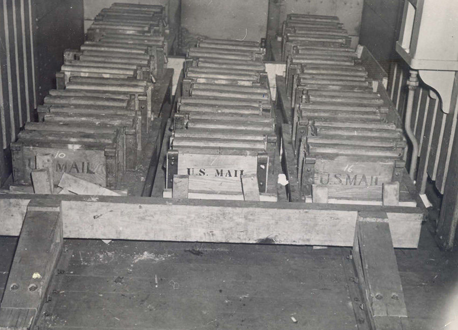 Boxes containing the bullion.