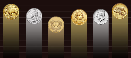 bar graph with coins at the top of the bars