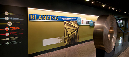 display about the process of blanking