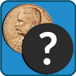white question mark in a black circle in front of Theodore Roosevelt medal