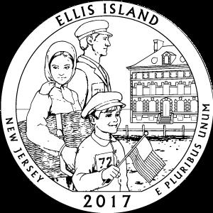 2017 ellis island quarter