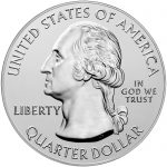 2018 America the Beautiful Quarters Five Ounce Silver Bullion Coin Block Island Rhode Island Obverse