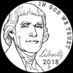 2018 nickel obverse