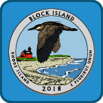 coloring coin icon showing colored in 2018 block island quarter