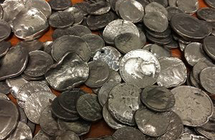 image of mutilated coins