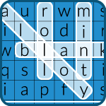 word search icon showing letters on a grid with words highlighted