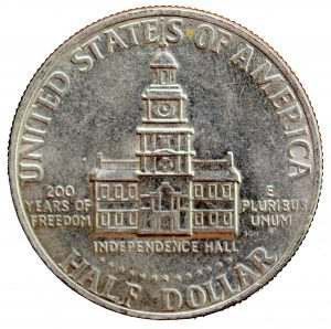 1976 Bicentennial Half Dollar reverse