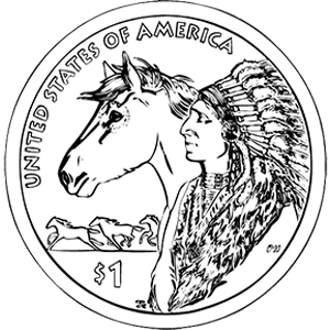2012 native american one dollar reverse