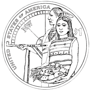 2014 native american one dollar reverse