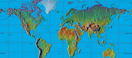 topographical world map