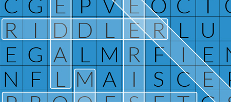 word search screenshot with answers highlighted