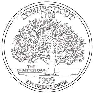 connecticut 50 state quarter obverse