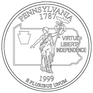 pennsylvania 50 state quarter obverse