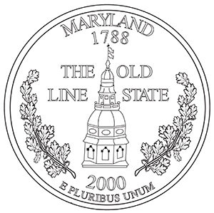 maryland 50 state quarter obverse