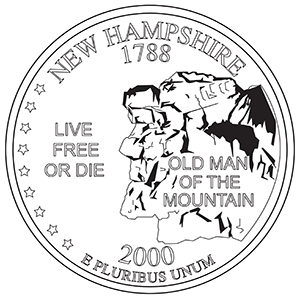 new hampshire 50 state quarter obverse