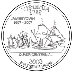 virginia 50 state quarter obverse