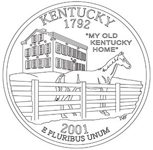 kentucky 50 state quarter obverse