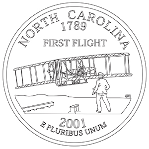 north carolina 50 state quarter obverse