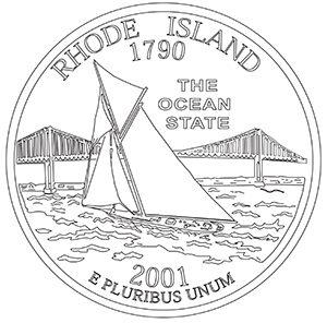 rhode island 50 state quarter obverse