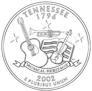 tennessee 50 state quarter obverse