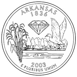 arkansas 50 state quarter obverse