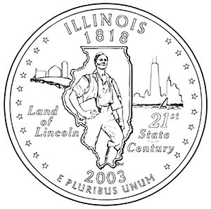 illinois 50 state quarter obverse