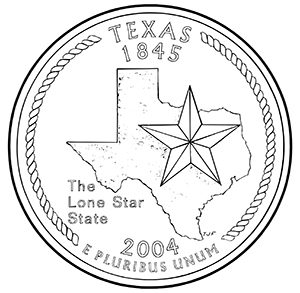 texas 50 state quarter obverse