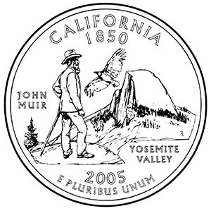 california 50 state quarter obverse