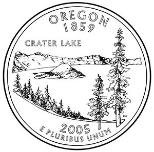 oregon 50 state quarter obverse