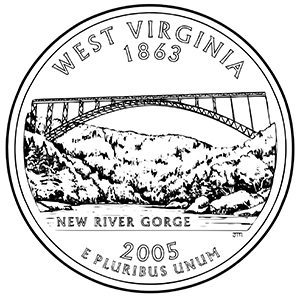 west virginia 50 state quarter obverse