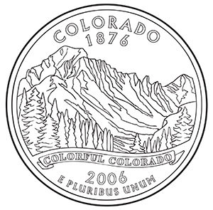 colorado 50 state quarter obverse