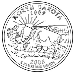 north dakota 50 state quarter obverse