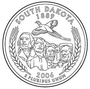 south dakota 50 state quarter obverse