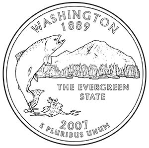 washington 50 state quarter obverse