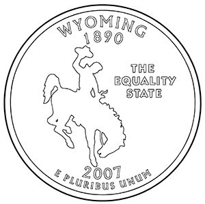 wyoming 50 state quarter obverse