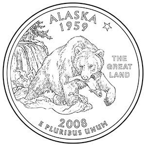 alaska 50 state quarter obverse