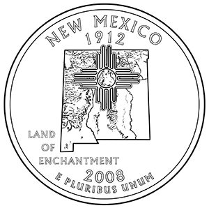 new mexico 50 state quarter obverse