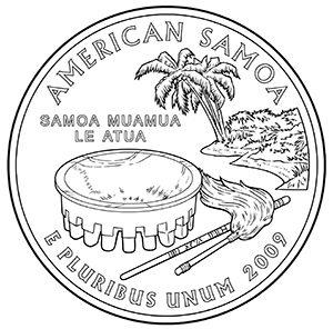 american samoa quarter obverse