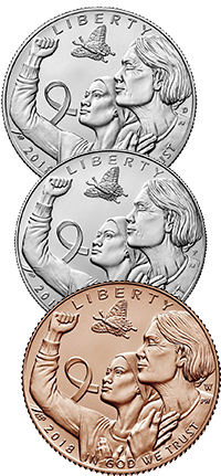 2018 Breast Cancer Awareness Commemorative Coin Program Obverses