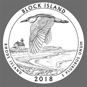 2018 america the beautiful block island national wildlife refuge quarter line art