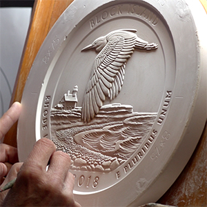 2018 america the beautiful block island national wildlife refuge quarter clay sculpture