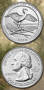lessons that make cents - coin of the month - 2018 cumberland island national seashore quarter obverse and reverse
