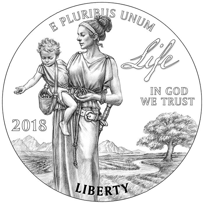 2018 American Eagle Platinum Obverse