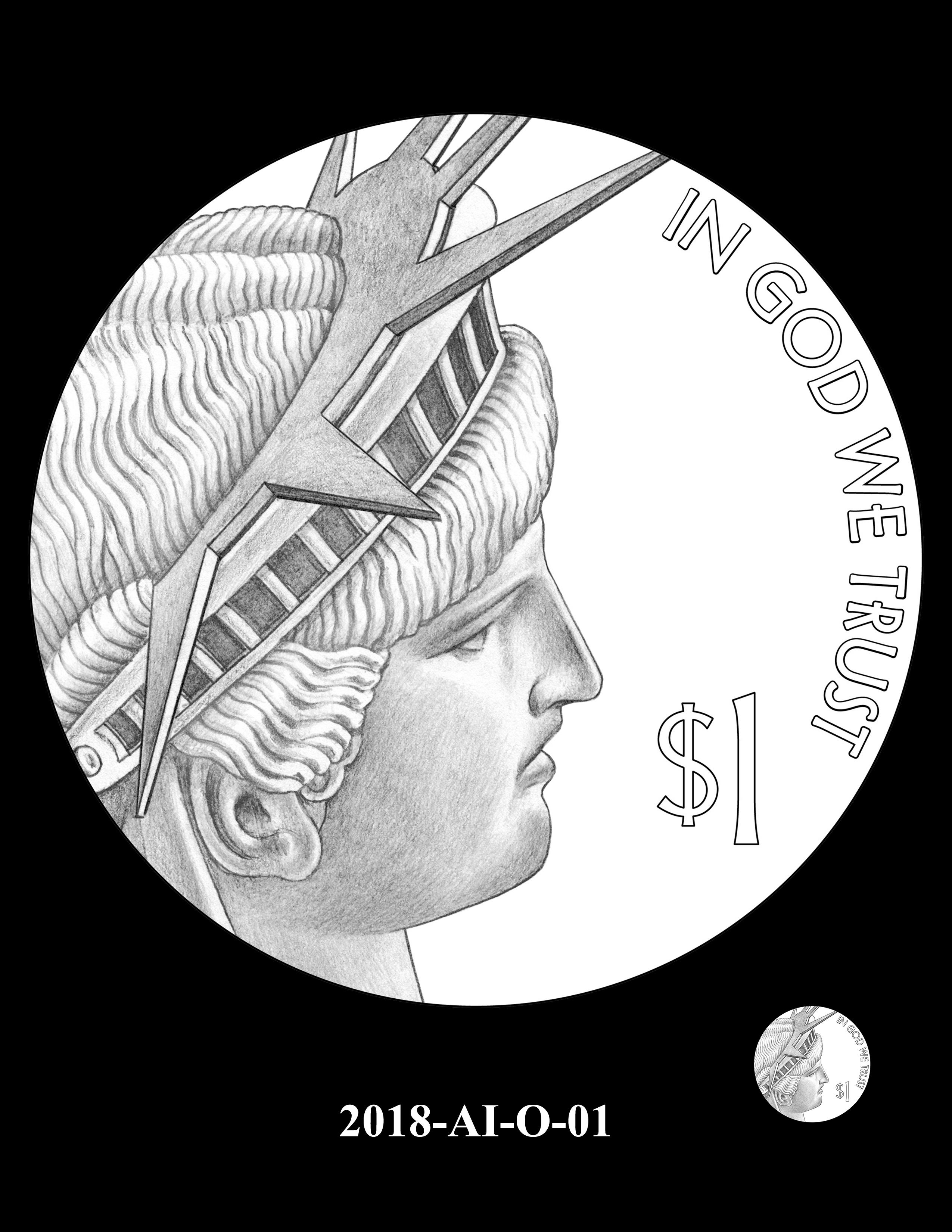 2018-AI-O-01 -- 2018 American Innovation $1 Coin