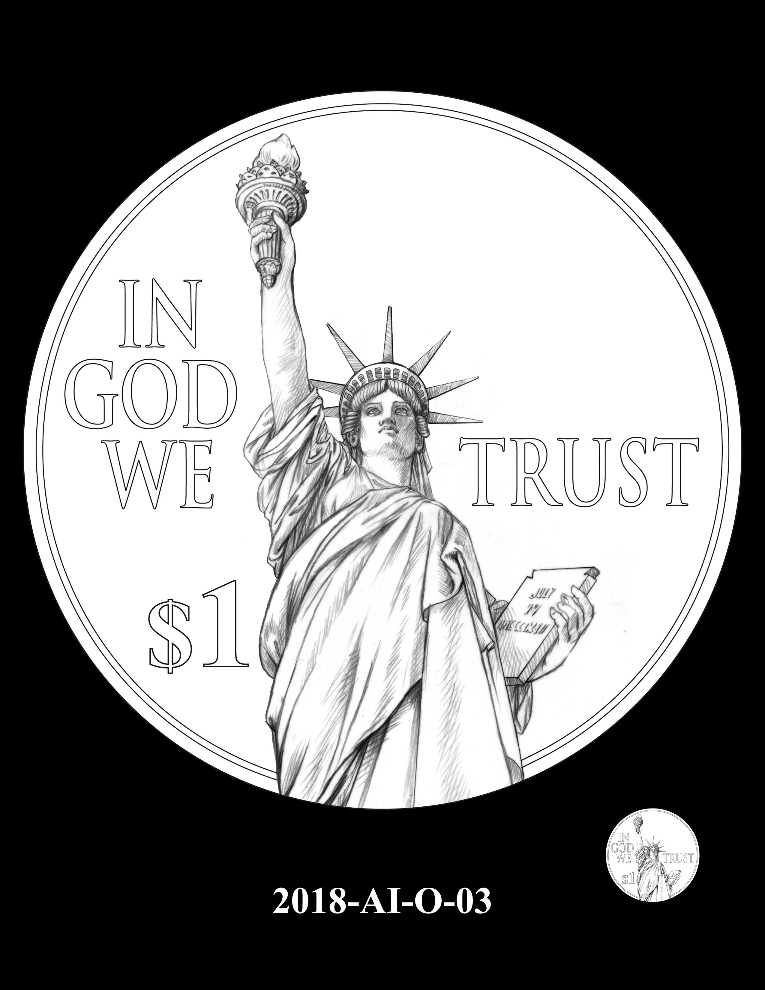 2018-AI-O-03 -- 2018 American Innovation $1 Coin