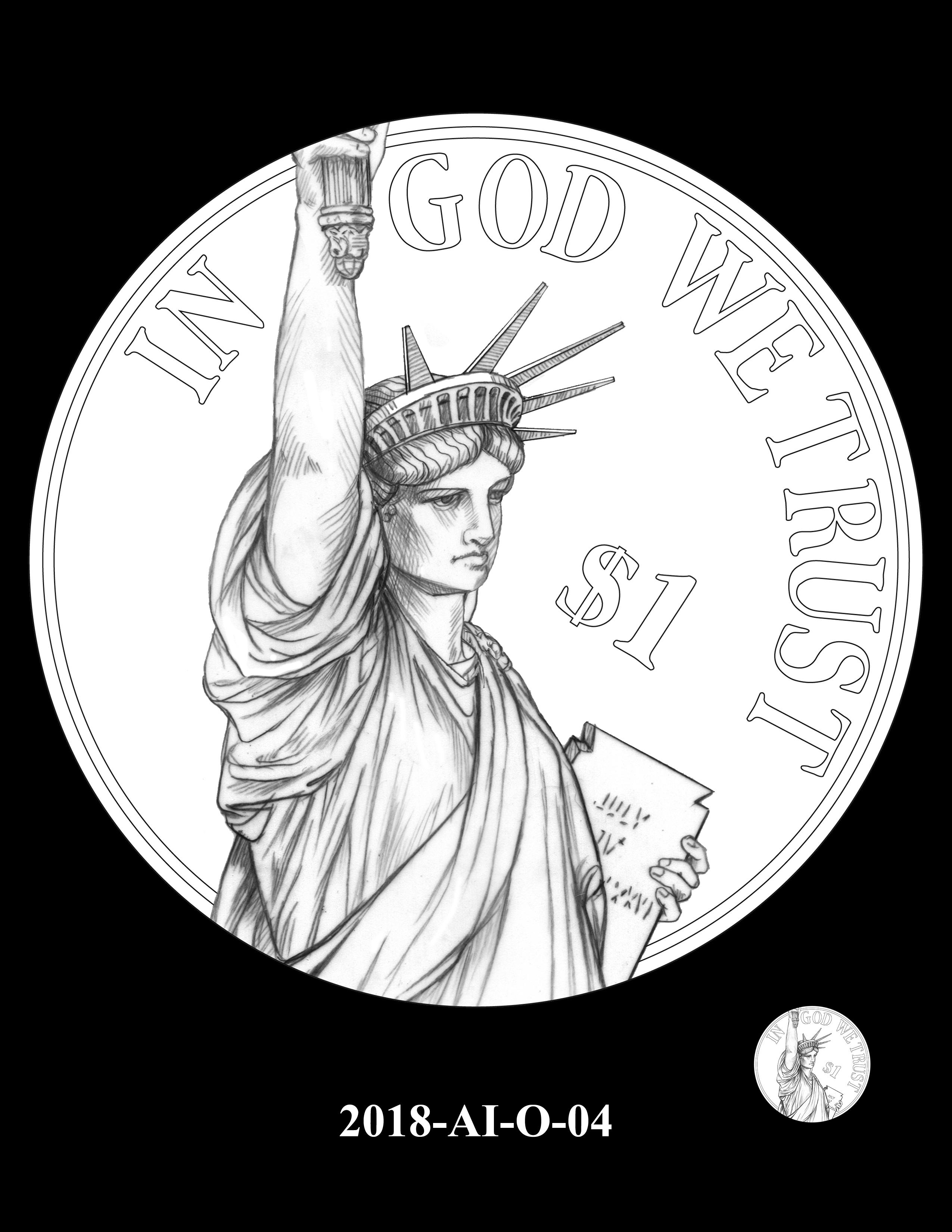 2018-AI-O-04 -- 2018 American Innovation $1 Coin