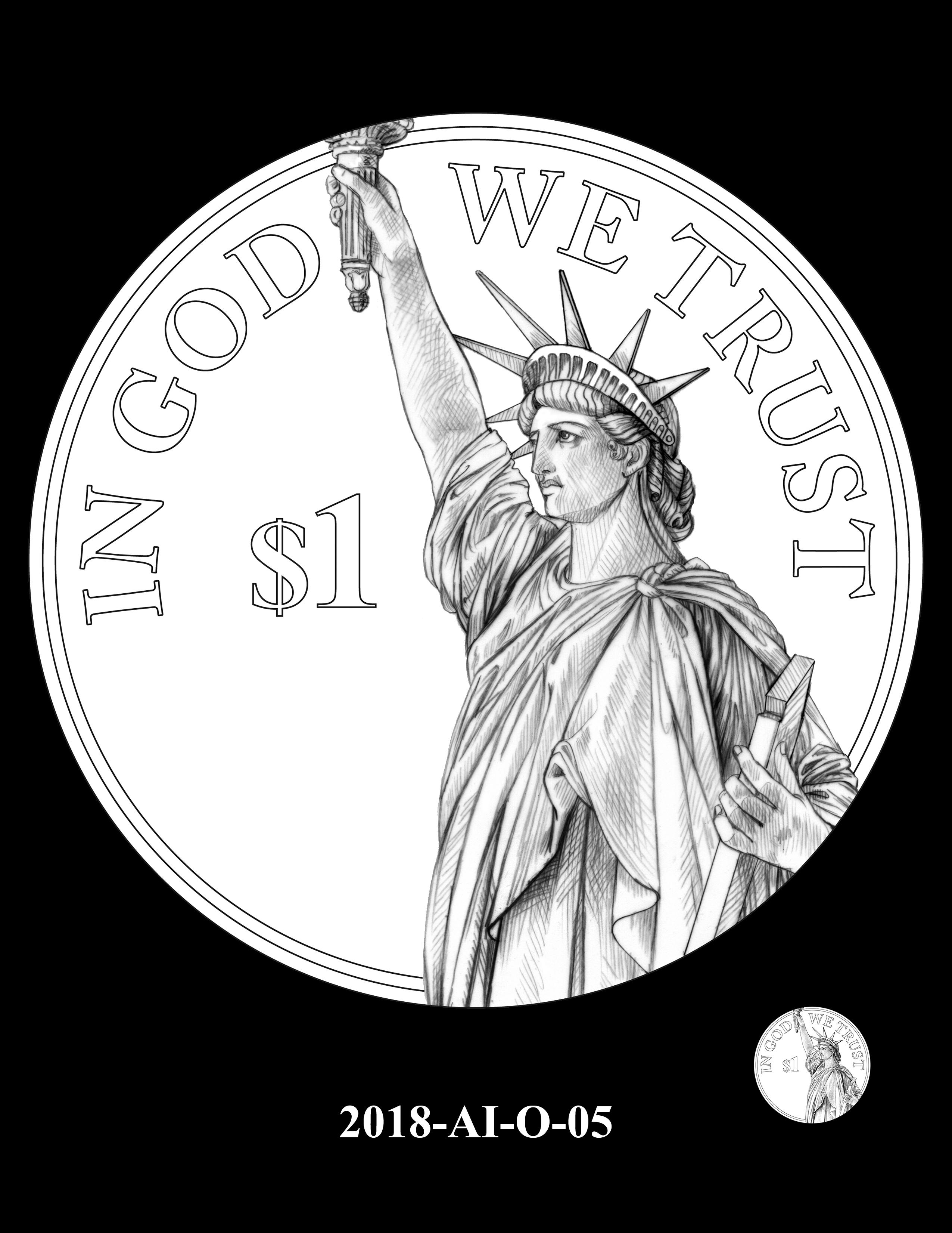 2018-AI-O-05 -- 2018 American Innovation $1 Coin